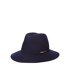 J by Jasper Conran - Navy metal trim fedora