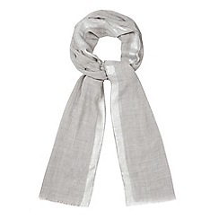 J by Jasper Conran - Grey lurex boarder scarf