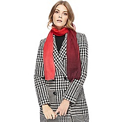 J by Jasper Conran - Red ombre wool scarf