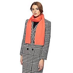 J by Jasper Conran - Dark peach cashmere scarf