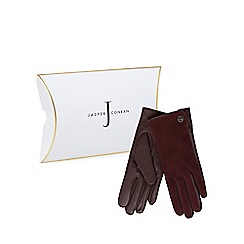 J by Jasper Conran - Dark red suede gloves