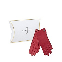 J by Jasper Conran - Bright pink suede gloves