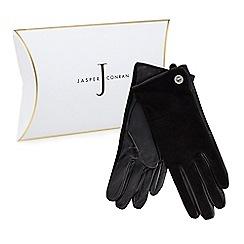 J by Jasper Conran - Black suede turnlock gloves