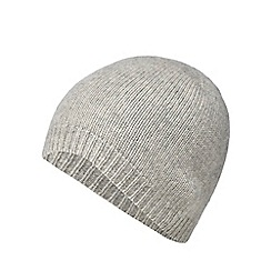J by Jasper Conran - Grey cashmere beanie hat