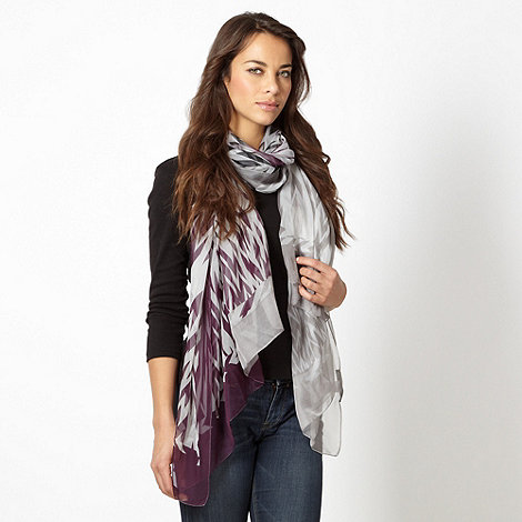 Betty Jackson.Black - Designer purple graduated chevron scarf