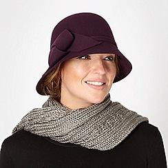 Betty Jackson.Black - Designer purple soft knot cloche hat