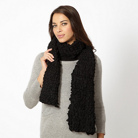 Betty Jackson.Black - Designer black textured knit scarf