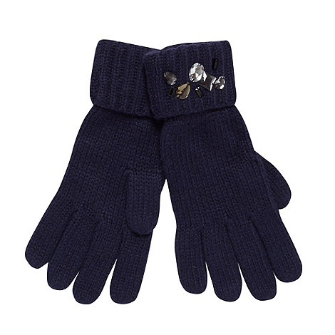 H! by Henry Holland - Designer navy jewel cuff gloves