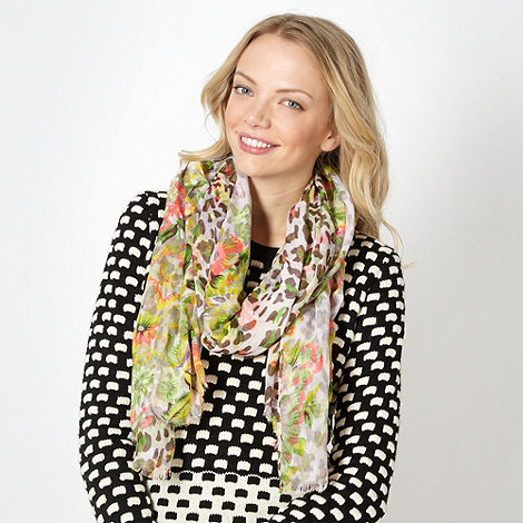 H! by Henry Holland - Designer green neon animal scarf