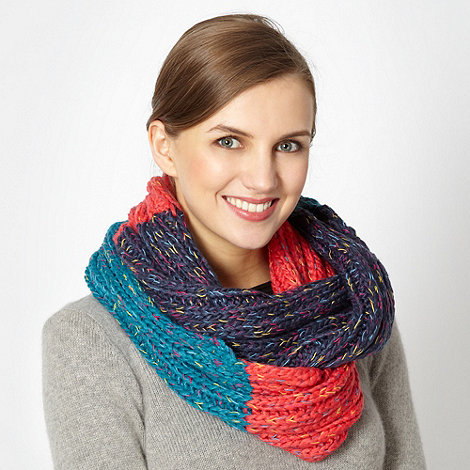 H! by Henry Holland - Designer colour block knitted snood