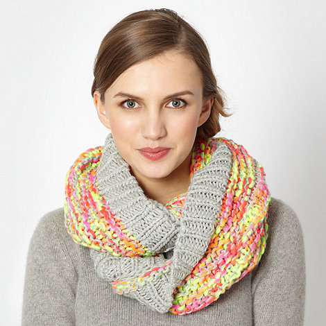 H! by Henry Holland - Designer grey neon patterned snood