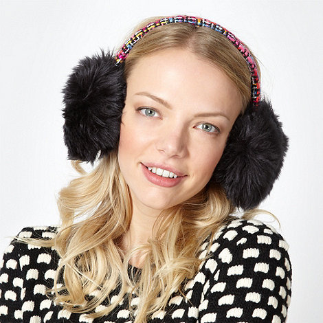 H! by Henry Holland - Designer pink boucle band earmuffs