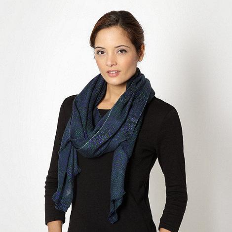 J by Jasper Conran - Designer navy mini dot scarf