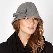 Designer grey wool trilby hat