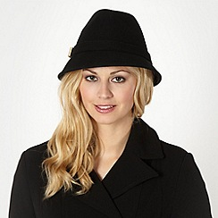 J by Jasper Conran - Designer black metal bow wool trilby hat