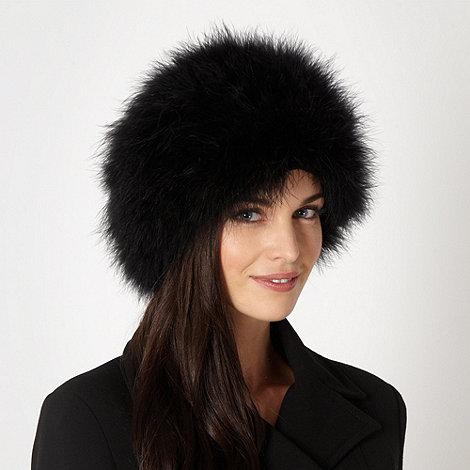 J by Jasper Conran - Designer black cossack hat