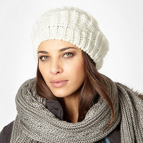 J by Jasper Conran - Designer cream knitted hat