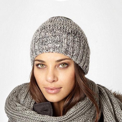 J by Jasper Conran - Designer grey glitter beanie hat