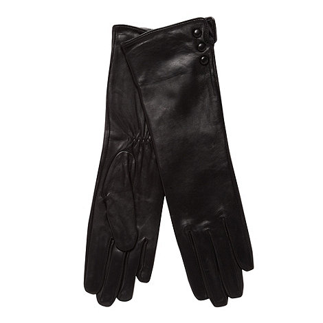 J by Jasper Conran - Designer black long leather gloves