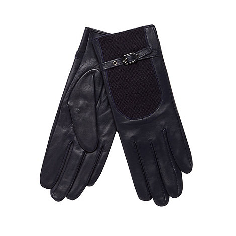 J by Jasper Conran - Designer navy leather driving gloves