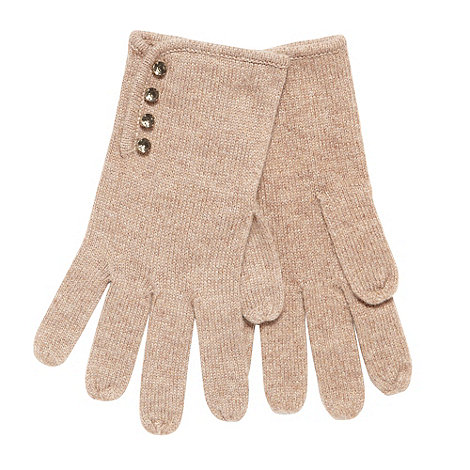 J by Jasper Conran - Designer camel jewel detail gloves
