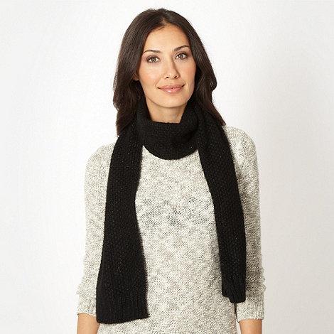 J by Jasper Conran - Designer black metallic weave scarf