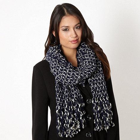 J by Jasper Conran - Designer navy chunky wave scarf