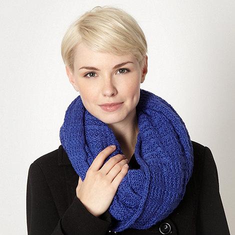 J by Jasper Conran - Designer blue open knit snood