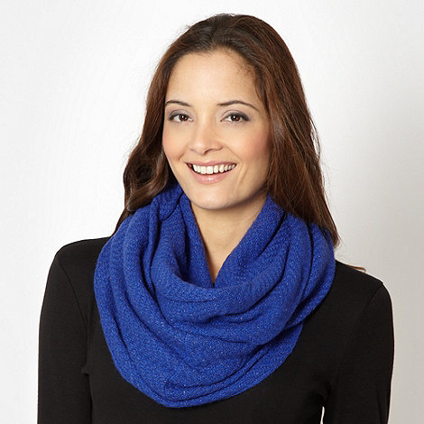 J by Jasper Conran - Designer blue metallic snood