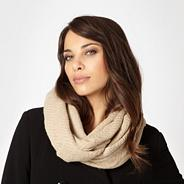 Designer natural metallic knit snood