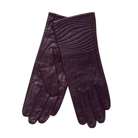 J by Jasper Conran - Designer dark purple leather gloves