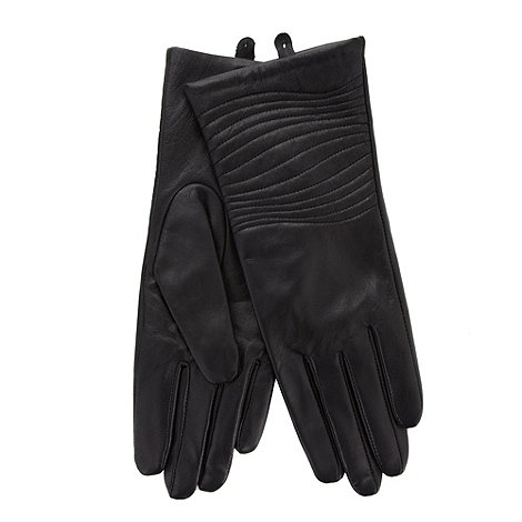 J by Jasper Conran - Designer black leather quilted gloves