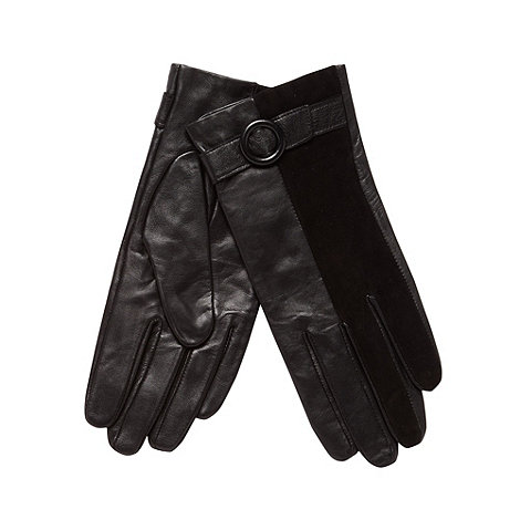J by Jasper Conran - Designer black leather gloves