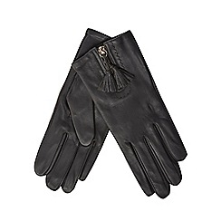 RJR.John Rocha - Grey front zip tassel gloves