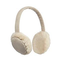 RJR.John Rocha - Cream faux fur ear muffs