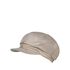 RJR.John Rocha - Grey suedette faux fur lined baker boy hat