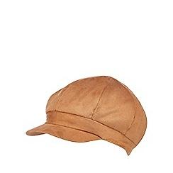 RJR.John Rocha - Tan suedette faux fur lined baker boy hat