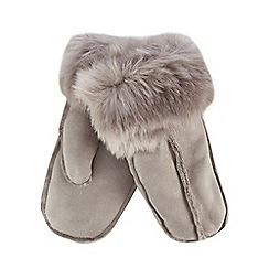 RJR.John Rocha - Grey faux sheepskin mittens