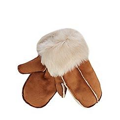 RJR.John Rocha - Tan faux sheepskin mittens