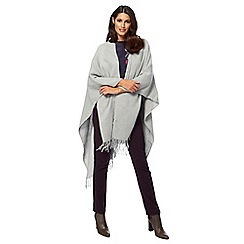 RJR.John Rocha - Grey plain wrap with wool