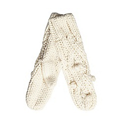 RJR.John Rocha - Cream bobble knit mittens