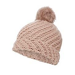 RJR.John Rocha - Pink chunky knit pom pom beanie hat