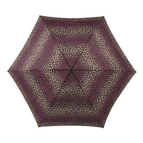 Totes - Brown striped animal print umbrella