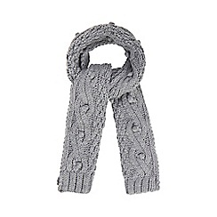 RJR.John Rocha - Grey bobble knit scarf