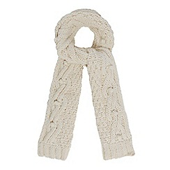 RJR.John Rocha - Cream bobble knit scarf