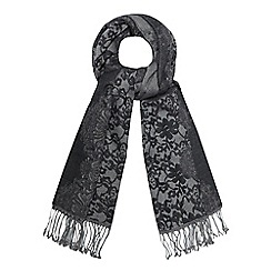 RJR.John Rocha - Grey lace print scarf