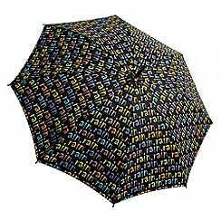 Totes - Black colourful slogan print umbrella