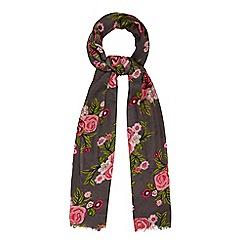RJR.John Rocha - Grey floral print scarf