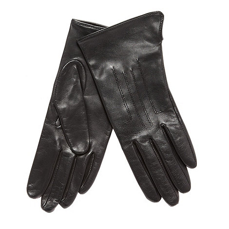Dents - Black leather gloves
