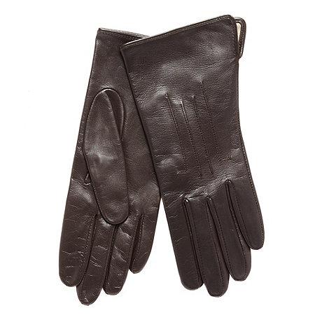 Dents - Dark brown leather gloves